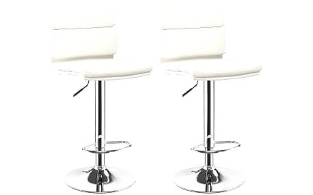 2x Barová židle Hawaj CL-7006-2   bílá