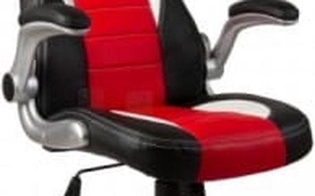 Kancelářské křeslo Hawaj Montreal - racing design černo-červeno-bílá