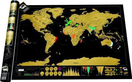 Seškrabávací mapa světa Luckies of London Deluxe Edition