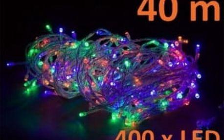 Vánoční LED osvětlení 40 m - barevné, 400 diod D28571