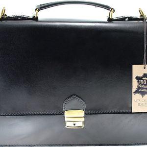 Černá kožená taška Irene - doprava zdarma!