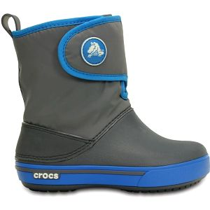 Crocs Crocband II.5 Gust Boot Kids Charcoal/Ocean, dostupné velikosti 28-30, 33-34