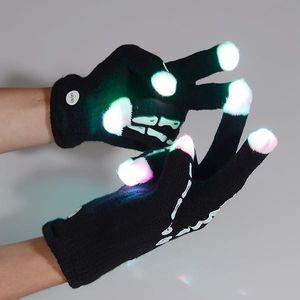 Rukavice se svítícími prsty - kostík
