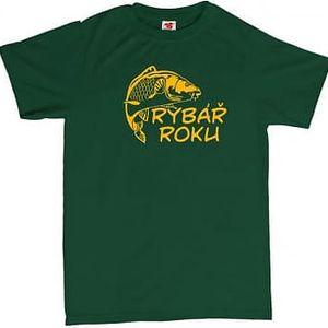 Tričko - Rybář roku - zelené - XXL
