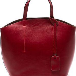 Červená kožená kabelka Sofia Cardoni Nora - doprava zdarma!