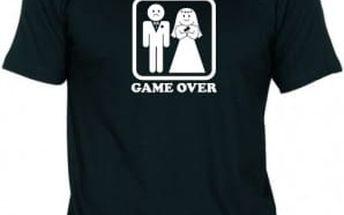 Tričko - GAME OVER - černé - XL