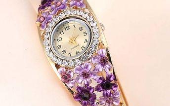 Dámské hodinky s kamínkovým zdobením - dodání do 2 dnů