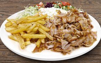 Turecký kebab a nealko nápoj v centru Prahy