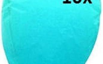 Lampión štěstí 10 ks - čepice - modrá