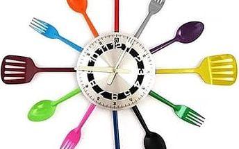 Hodiny do kuchyně - barevné