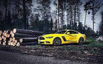 Jedinečný zážitek z jízdy v supersportu Ford Mustang GT V8 2016. V nabídce i varianty bez doplatku za PHM.
