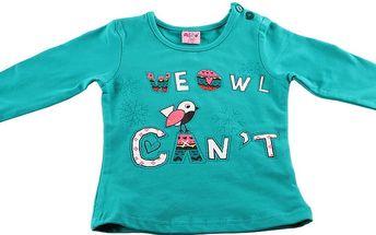Dívčí tričko s dlouhými rukávy Ativo vel. 6 měsíců, 74 cm