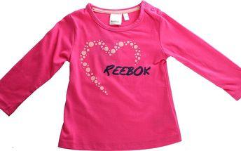 Dětské tričko s dlouhým rukávem Reebok vel. 9 - 12 měsíců, 74cm
