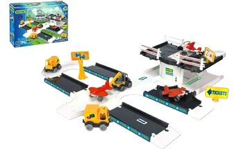 WADER 53350 Kid cars 3D Letecká základna 3 8m