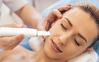Ultrazvuková špachtle - 90min. čištění + pleťové sérum, kosmetická masáž a zábal na ruce