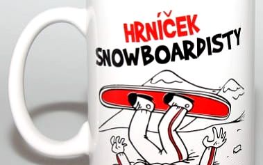 Vtipný hrnek - Snowboardisty