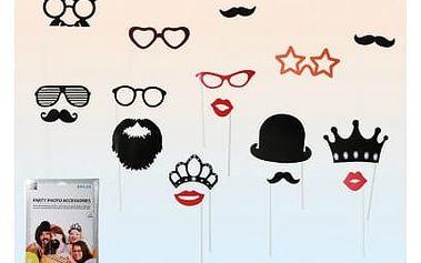 Párty foto doplňky 17 ks - Moustache & Lips