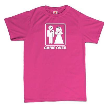 Tričko - GAME OVER - růžové - L
