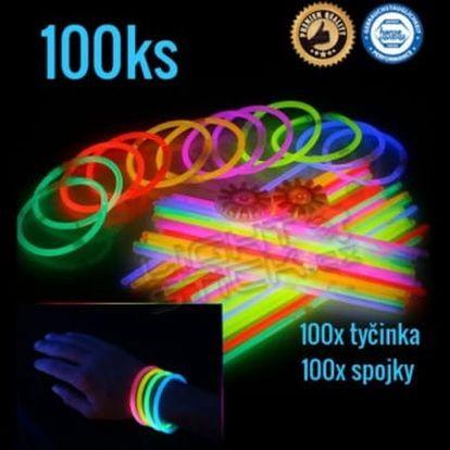 Lightstick Svítící náramky 100ks - mix barev
