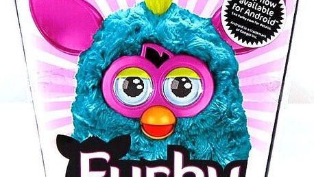 Hasbro Furby Cool tyrkysový s růžovými oušky