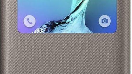 Samsung flipové pouzdro S View pro Galaxy S6 edge+ (SM-G928F), zlatá - EF-CG928PBEGWW