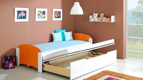 Dětská jednolůžková postel s přistýlkou Mildred - DOPRAVA ZDARMA!