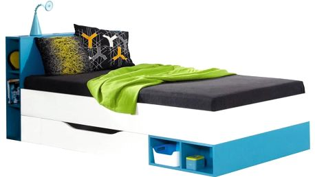 Studentská postel s úložným prostorem Poly 18 - DOPRAVA ZDARMA!