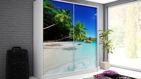 Šatní skříň s motivem pláže Monela 8 - DOPRAVA ZDARMA!