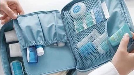 Cestovní organizér na kosmetiku a hygienické pomůcky - skladovka - poštovné zdarma