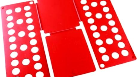 Deska na rychloskládání oblečení - červená