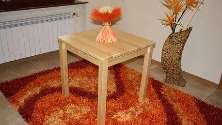 Dřevěný stůl borovice, čtvercový - SUPER CENA