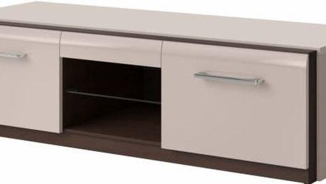 Malý televizní stolek Mareta 1 - kašmírový lesk - DOPRAVA ZDARMA!