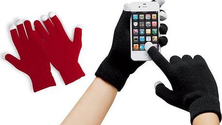 Dotykové rukavice na mobilní telefon nebo tablet