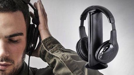 Bezdrátové sluchátka 5 v 1 pro nerušený poslech hudby