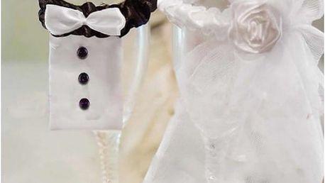 Dekorace na svatební skleničky