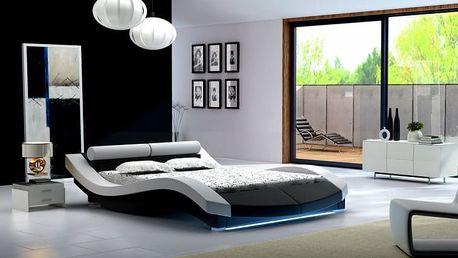 Moderní dvojlůžková postel Alvina - DOPRAVA ZDARMA!