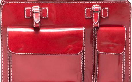 Červená kabelka s prošíváním - doprava zdarma!
