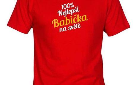 Tričko - Nejlepší babička - červené - L