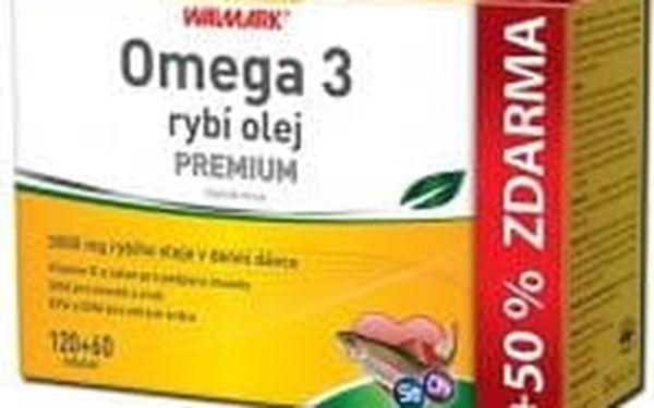WALMARK Omega 3 rybí olej PREMIUM 120+60 tobolek