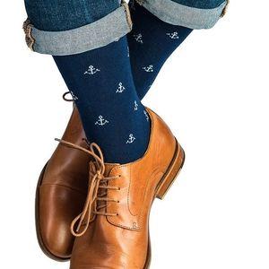 Ponožky Funky Steps Anchor Blue, unisex velikost