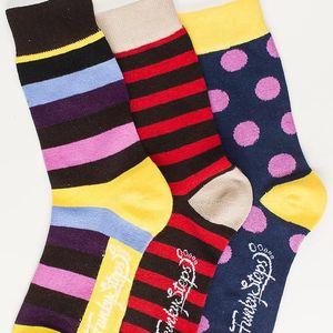 Tři páry ponožek Funky Steps Fini, unisex velikost