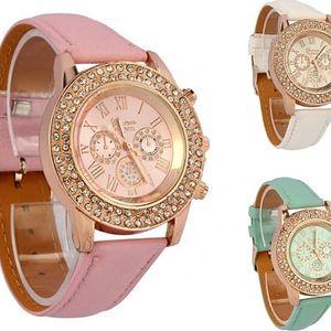 Elegantní dámské hodinky se třpytivými kamínky