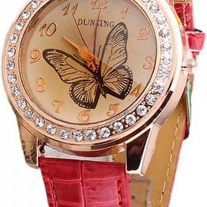 Dámské hodinky s motýlem na ciferníku