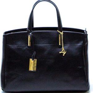 Černá kožená kabelka Francesca - doprava zdarma!
