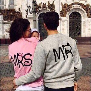 Stylové mikiny pro páry Mr. a Mrs.