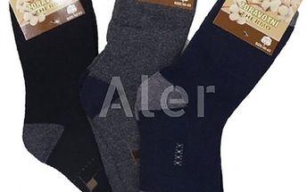 Pánské zdravotní termo ponožky. Trvalá antibakteriální ochrana, odvádí pot a zajišťují termokomfort.