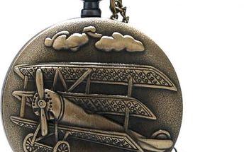 Kapesní retro hodinky - Letoun Fokker Dr.I