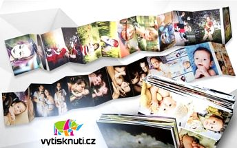 Vytvořte si vlastní příběh: originální leporelo z 24 vašich fotek ve formátu A4 vč. poštovného