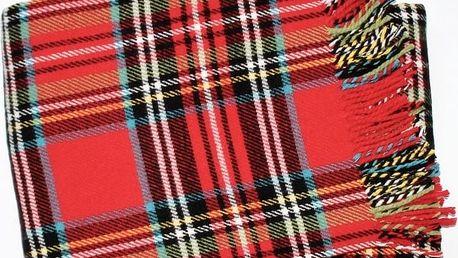 Deka Scott 140x180 cm, červená