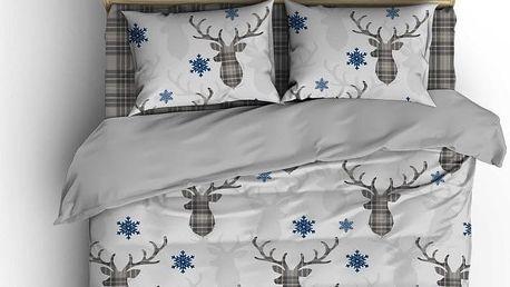 Šedé povlečení Deer, 200x220 cm - doprava zdarma!